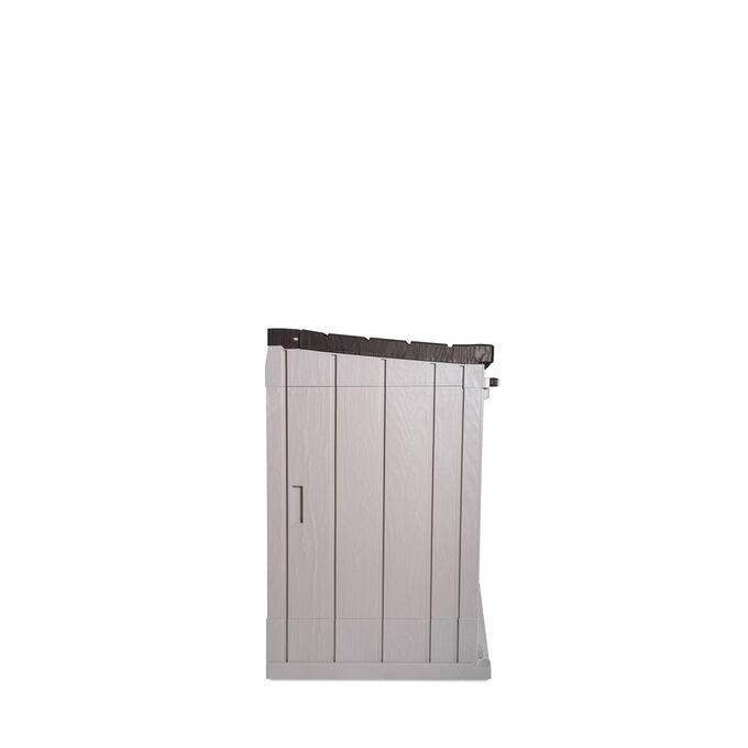 TOOMAX ITALY Αποθήκη Κήπου Βαρέως Τύπου Πλαστική 842lt 129.5x74.5x111cm 20.5kg MASSIF STORER PLUS TAUPE GREY/BROWN