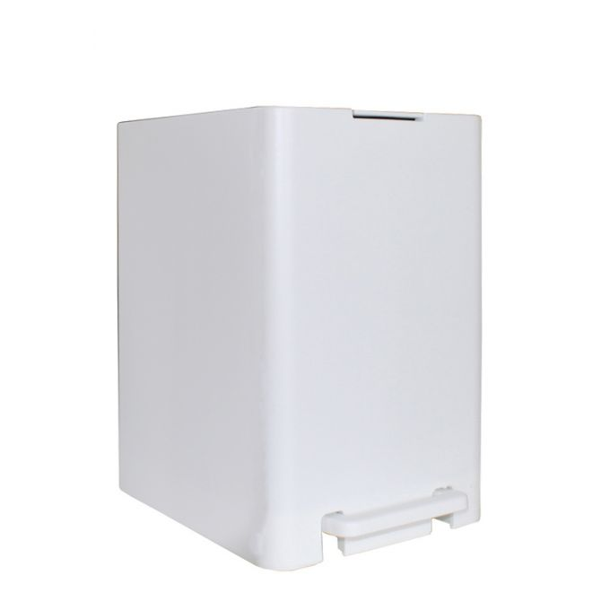 Σετ Κάδος Μπάνιου με Πεντάλ 13.5lt με Εσωτερικό Κάδο 7lt και Πιγκάλ Πλαστικό SOFT CLOSE Λευκό Ελλάδας