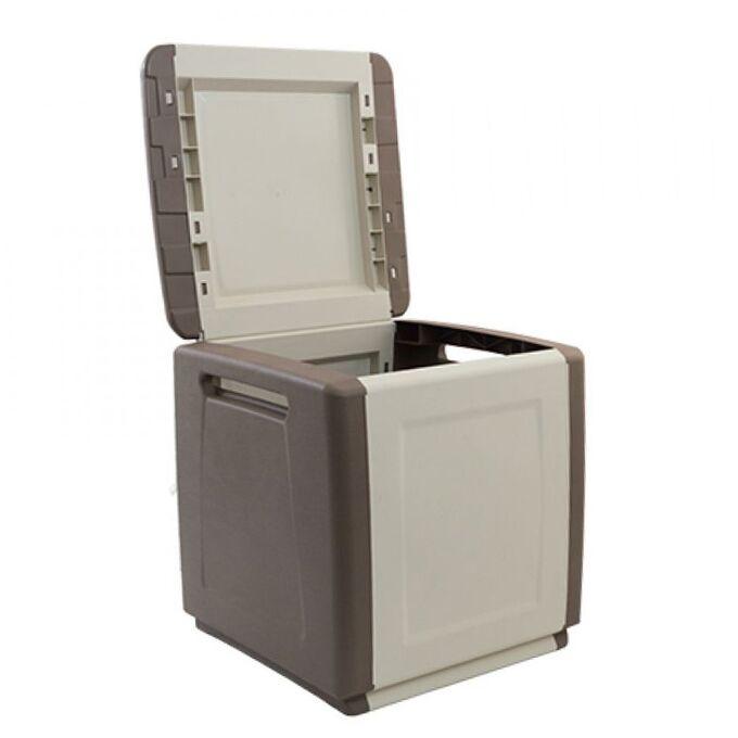 Μπαούλο 54x53x57 120lt Αποθήκευσης Πλαστικό MASSIF 7kg Γκρι-Καφέ/Μπεζ ARTPLAST CUBE