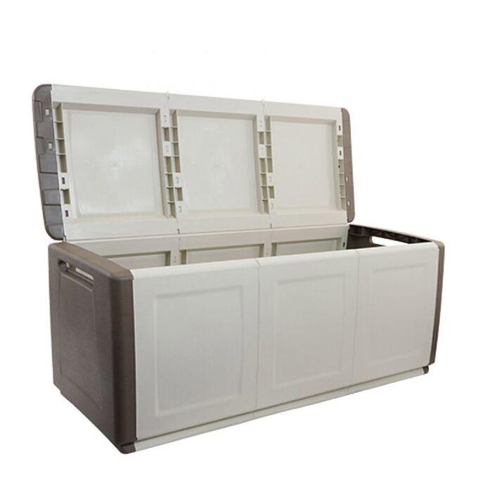 Μπαούλο 138x53x57 330lt Αποθήκευσης Πλαστικό MASSIF 13kg Γκρι Καφέ/Μπεζ ARTPLAST CUBE