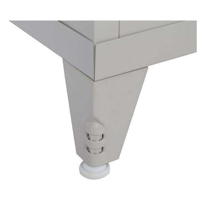 Μεταλλική Ντουλάπα 90x45x191cm Πάχους 0.6mm/0.8mm (πάτωμα) Γαλβανιζέ με 4 Ράφια και Ρυθμιζόμενα Πόδια - 5 Αποθηκευτικοί Χώροι Taupe-Μπεζ STEELEN