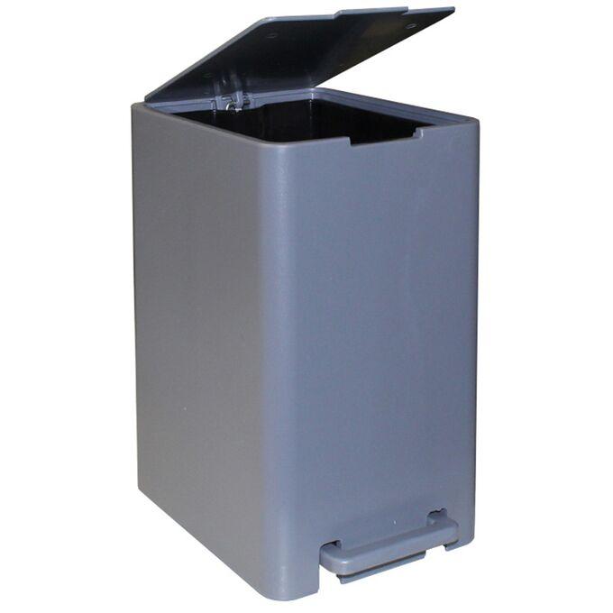 Σετ Κάδος Μπάνιου με Πεντάλ 17lt με Εσωτερικό Κάδο 10lt και Πιγκάλ Πλαστικό SOFT CLOSE Γκρι Τιτανίου Ελλάδας
