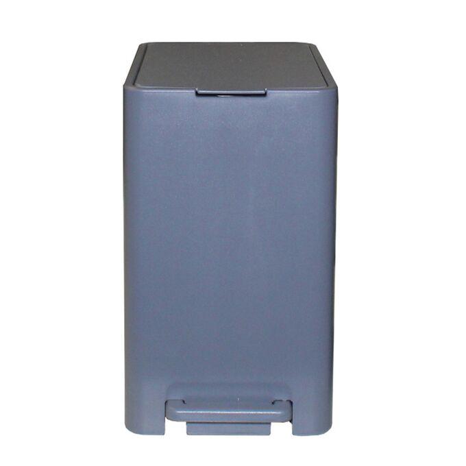 Κάδος Μπάνιου με Πεντάλ 17lt 18.5x26x37cm με Εσωτερικό Κάδο 10lt 1.04kg Πλαστικό SOFT CLOSE Γκρι Τιτανίου Ελλάδας