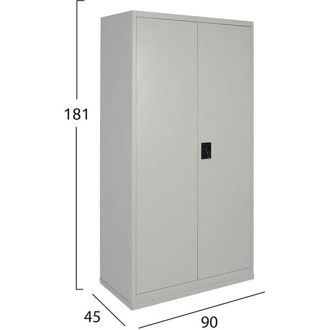Μεταλλική Ντουλάπα 90x45x181cm Πάχους 0.6mm/0.8mm (πάτωμα) Γαλβανιζέ με 4 Ράφια - 5 Αποθηκευτικοί Χώροι STEELEN