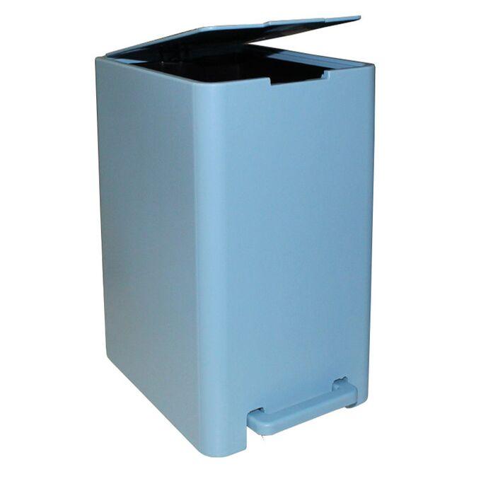 Σετ Κάδος Μπάνιου με Πεντάλ 17lt με Εσωτερικό Κάδο 10lt και Πιγκάλ Πλαστικό SOFT CLOSE Σιέλ Ελλάδας