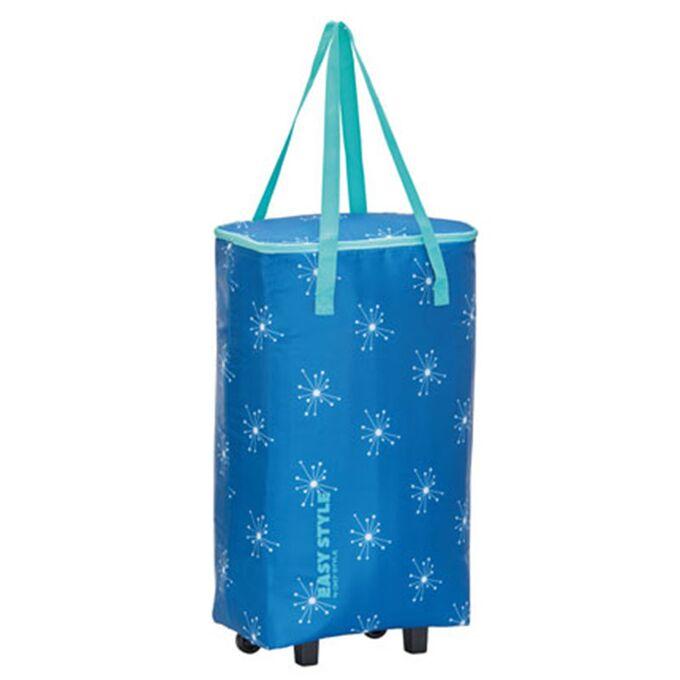 GIOSTYLE ITALY Ισοθερμική Τσάντα Τρόλεϋ 33x20x63cm Πάχος 4mm 44lt Πολυεστέρας 70D MAX Απόδοση 10 Ώρες Πιστοποίηση REACH EASY STYLE BAG-TROLLEY Μπλε