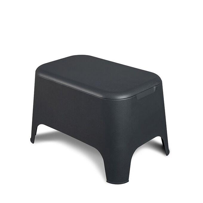 TOOMAX Ορθογώνιο Τραπέζι 59x39x36cm Πλαστικό Βάρος 3.4kg Petra Matte Anthracite Ιταλίας