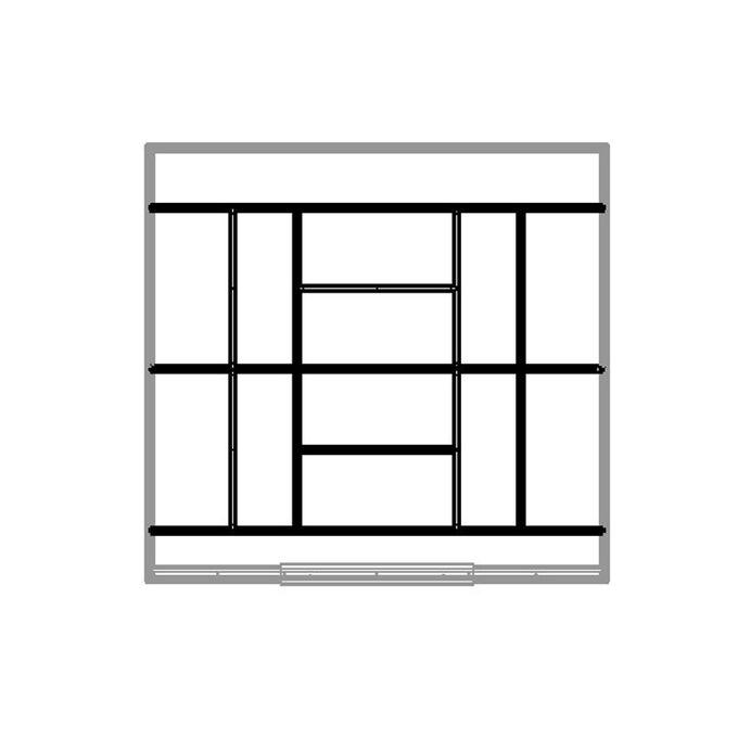 Βάση-Πλαίσιο Δαπέδου Γαλβανιζέ Μέταλλο για την Αποθήκη-Σπιτάκι Κήπου 453.1001I