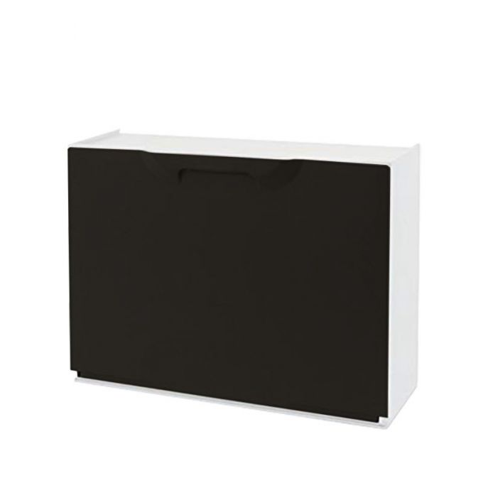 Παπουτσοθήκη Πλαστική Συναρμολογούμενη 51x17.3x41cm για 3 Ζευγάρια 2.5kg UNIKA Μαύρη-Μπεζ ARTPLAST Ιταλίας
