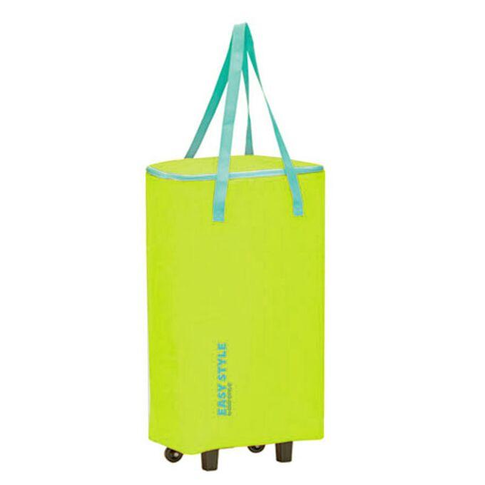 GIOSTYLE ITALY Ισοθερμική Τσάντα Τρόλεϋ 33x20x63cm Πάχος 4mm 44lt Πολυεστέρας 70D MAX Απόδοση 10 Ώρες Πιστοποίηση REACH EASY STYLE BAG-TROLLEY Κίτρινο