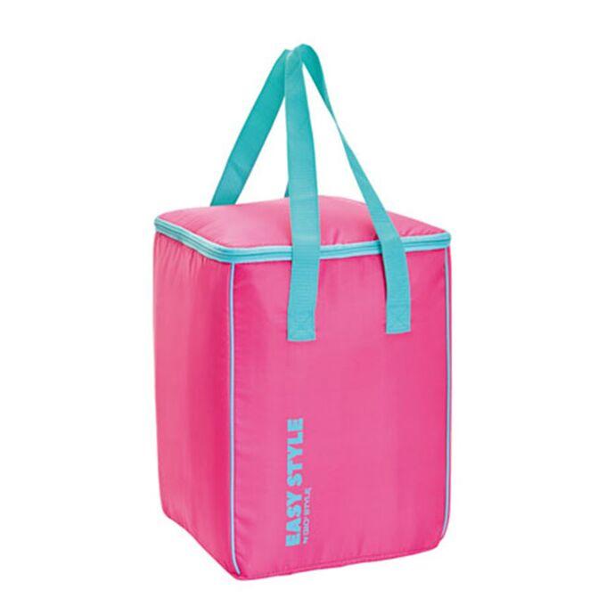 GIOSTYLE ITALY Ισοθερμική Τσάντα 26.7x26x36.7cm Πάχος 4mm 30lt Πολυεστέρας 70D MAX Απόδοση 10 Ώρες Πιστοποίηση REACH EASY STYLE VERTICAL Ροζ