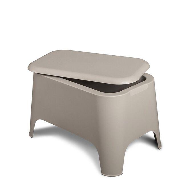 TOOMAX Ορθογώνιο Τραπέζι 59x39x36cm Πλαστικό Βάρος 3.4kg Petra Matte Taupe Grey Ιταλίας