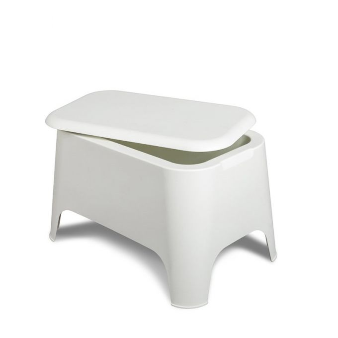 TOOMAX Ορθογώνιο Τραπέζι 59x39x36cm Πλαστικό Βάρος 3.4kg Petra Matte White Ιταλίας