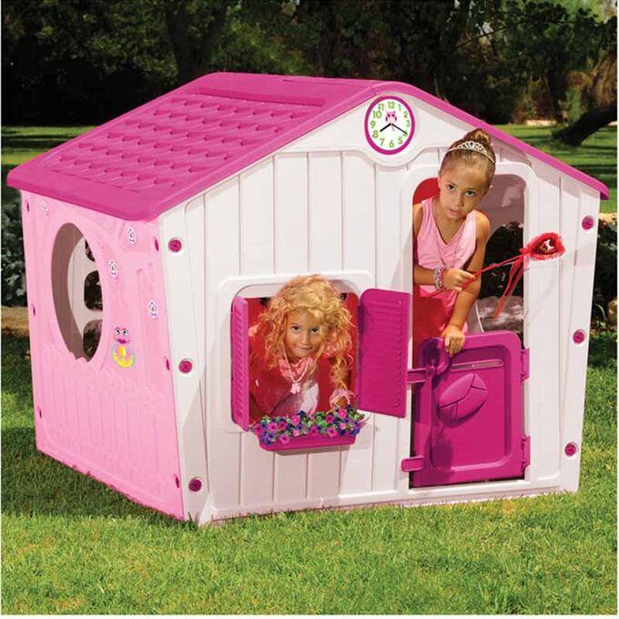Παιδικό Σπιτάκι Κήπου 140x108x115.5cm Galilee Village House Ροζ με Φούξια Σκεπή STARPLAY