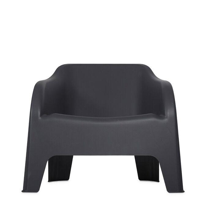 TOOMAX Πολυθρόνα-Καρέκλα Κήπου Στοιβαζόμενη 79x76.5x70cm Βάρος 6.8kg Petra Matte Anthracite Ιταλίας