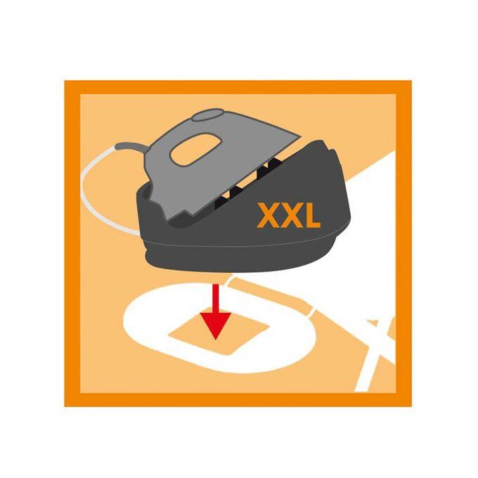 VILEDA Σιδερώστρα Ατμού-Boiler Μεταλλική 157x44x75-95cm με Βραχίονα Απλώματος 93cm και Επιφάνεια Σιδερώματος 122x44cm 6.36kg Perfect 2 in1 Γερμανίας