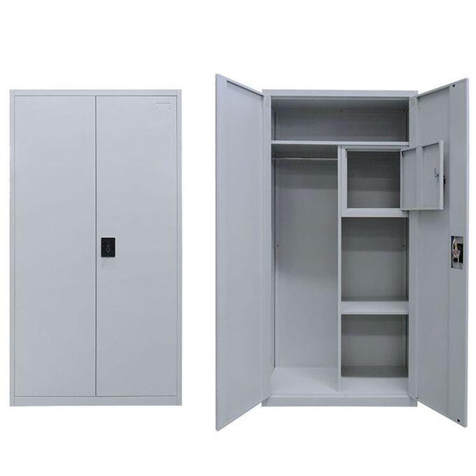 Μεταλλική Ντουλάπα 90x45x191cm Γαλβανιζέ με Χώρισμα και Εσωτερικό Ντουλάπι (Locker) 42kg 5 Αποθηκευτικοί Χώροι STEELEN