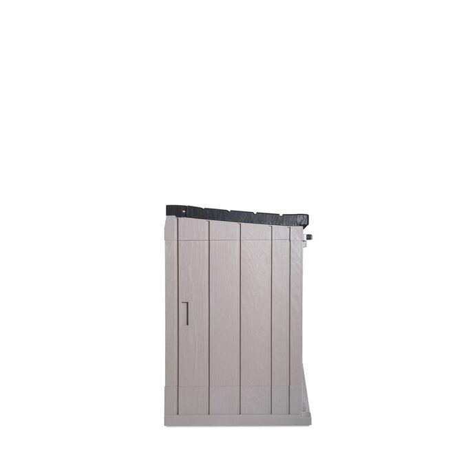 TOOMAX ITALY Αποθήκη Κήπου Βαρέως Τύπου Πλαστική 1330lt 145x82x124.5cm 22kg MASSIF STORER PLUS XL TAUPE GREY/ANTHRACITE