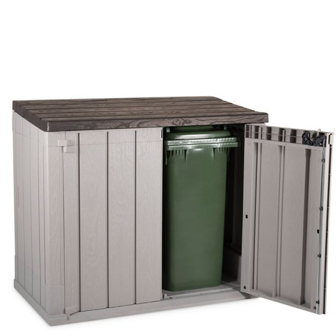 TOOMAX ITALY Αποθήκη Κήπου Βαρέως Τύπου Πλαστική 1330lt 145x82x124.5cm 22kg MASSIF STORER PLUS XL TAUPE GREY/BROWN
