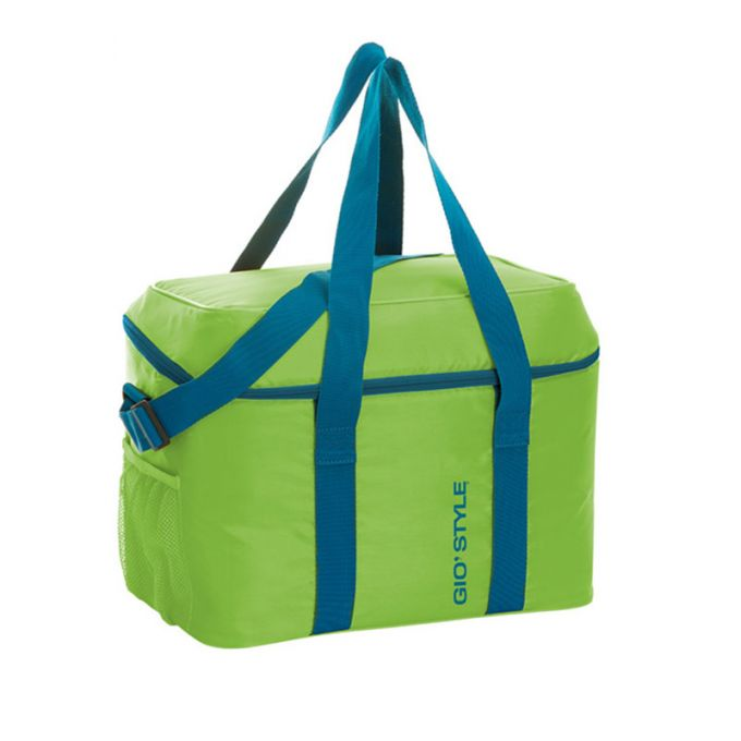 GIOSTYLE ITALY Ισοθερμική Τσάντα 37x26x31cm Πάχος 6mm 30lt Πολυεστέρας 120D MAX Απόδοση 13 Ώρες Πιστοποιήσεις Azo FREE/REACH FRIO 30 Πράσινο