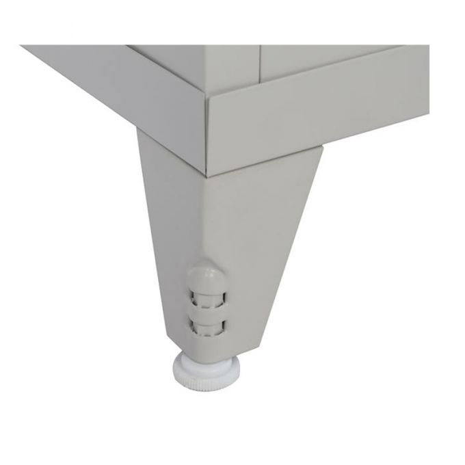 Μεταλλική Ντουλάπα 70x40x181cm Πάχους 0.6mm/0.8mm (πάτωμα) Γαλβανιζέ με Χώρισμα και Ρυθμιζόμενα Πόδια - 5 Αποθηκευτικοί Χώροι STEELEN