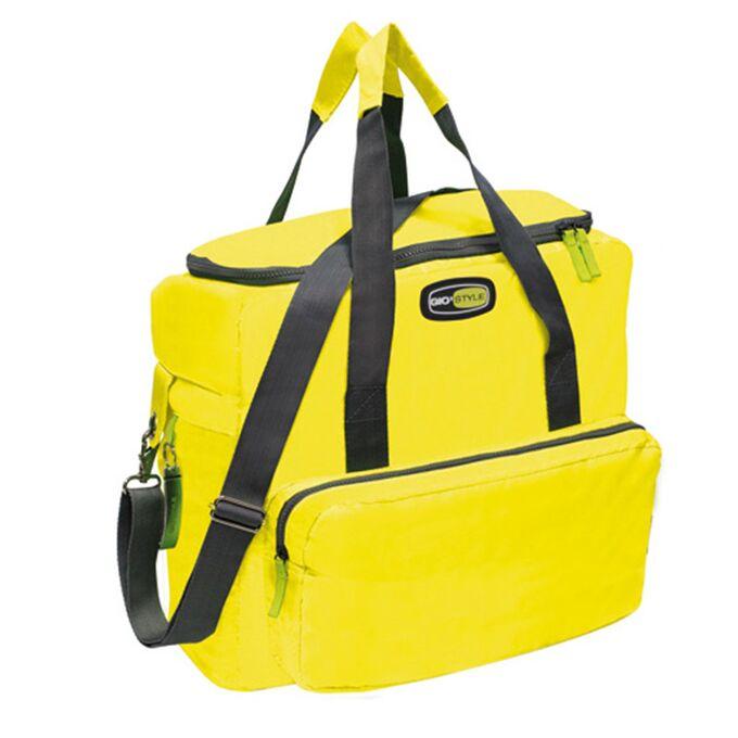 GIOSTYLE ITALY Ισοθερμική Τσάντα 42x18x37cm Πάχος 10mm 33lt Πολυεστέρας 420D MAX Απόδοση 18 Ώρες Πιστοποιήσεις Azo FREE/REACH VELA+ XL Κίτρινο