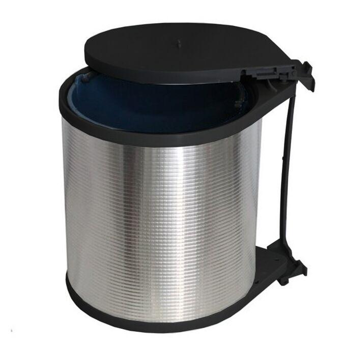 Κάδος Απορριμμάτων Αλουμινίου Ντουλαπιού Κουζίνας Εσωτερικός Ø26.5x32cm 13lt 1.1kg Ελλάδας