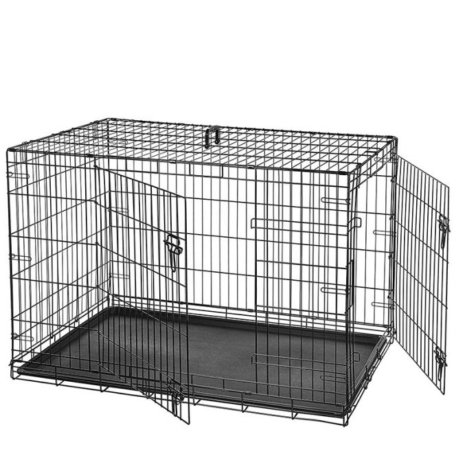 VESTA Κλουβί Περιορισμού και Περίφραξης Medium 76x46x55cm 7kg Μεταλλικό - Πλαστικό Μαύρο