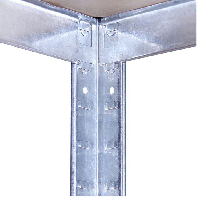 VESTA Μεταλλική Γαλβανιζέ Ραφιέρα 5όροφη 120x50x180cm με Μοριοσανίδες Πάχους 4mm 15.4kg Πάχος Δοκών 7mm MAX Αντοχή 875kg