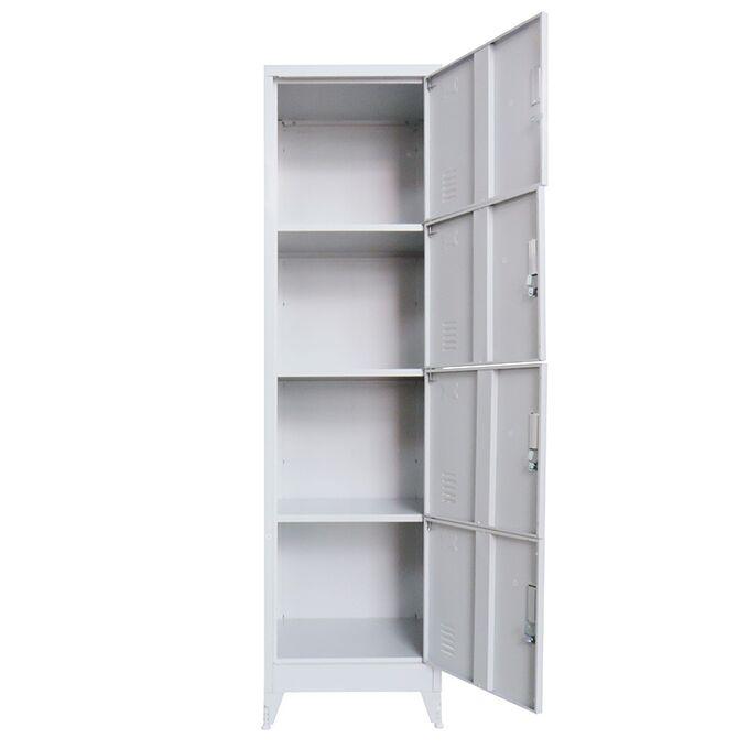 VESTA Μεταλλική Ντουλάπα-Φοριαμός (Locker) 50x45x190cm 4 Ντουλάπια 24kg Γκρι Ανοικτό