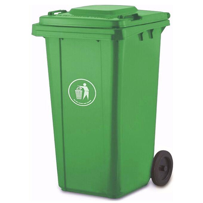 VESTA Κάδος Απορριμάτων 240lt 56x73x106cm Πλαστικός ΒΑΡΕΟΥ ΤΥΠΟΥ 13.3kg Επαγγελματικός/Οικιακός-Κήπου Πράσινο