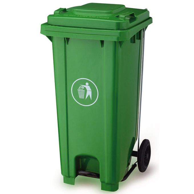 VESTA Κάδος Απορριμάτων 80lt με Ρόδες+Πεντάλ 47x54x80cm Πλαστικός ΒΑΡΕΟΥ ΤΥΠΟΥ 8kg Επαγγελματικός/Οικιακός-Κήπου Πράσινος