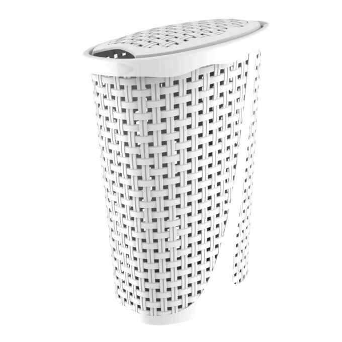 Καλάθι Απλύτων 43lt 31.5x40x60cm Οβάλ Λευκό BAMA ITALY