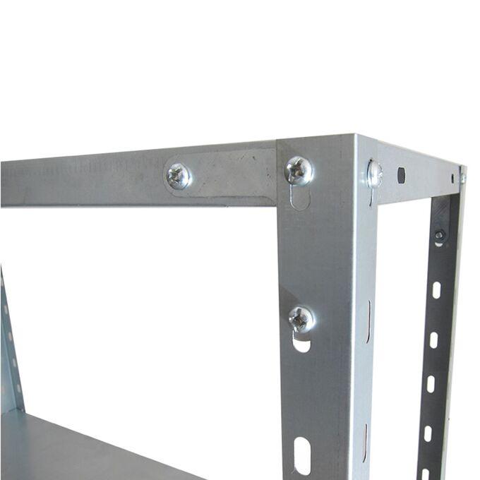 VESTA Μεταλλική Γαλβανιζέ Ραφιέρα 4όροφη 75x30x145.5cm 5kg MAX Αντοχή 120kg (30kg / Ράφι)