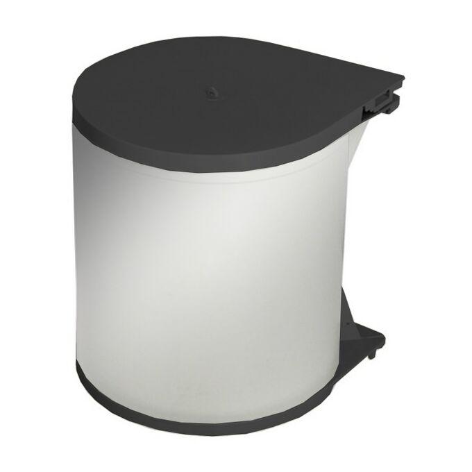 Κάδος Απορριμμάτων INOX Ντουλαπιού Κουζίνας Εσωτερικός Ø26.5x32cm 13lt 1.1kg Μαύρο Καπάκι και Βάση Ελλάδας