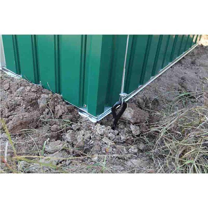 Σετ 4 Τεμάχια Αγκύρια Εδάφους για Μεταλλικές Αποθήκες Κήπου