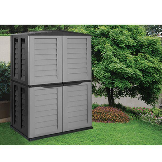 Αποθήκη Κήπου Βαρέως Τύπου Πλαστική 2480lt 151x83x198cm 52kg Ασημί-Μαύρο STARPLAST