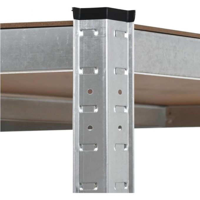 VESTA Μεταλλική Γαλβανιζέ Ραφιέρα 5όροφη 90x90x180cm με Μοριοσανίδες Πάχους 5mm 24.5kg Πάχος Δοκών 7mm MAX Αντοχή 875kgs (175kgs / Ράφι)