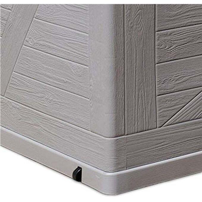 TOOMAX ITALY Μπαούλο Αποθήκευσης 120x56x63cm 420lt Πλαστικό 8.5kg MULTIBOX WOOD Warm Grey