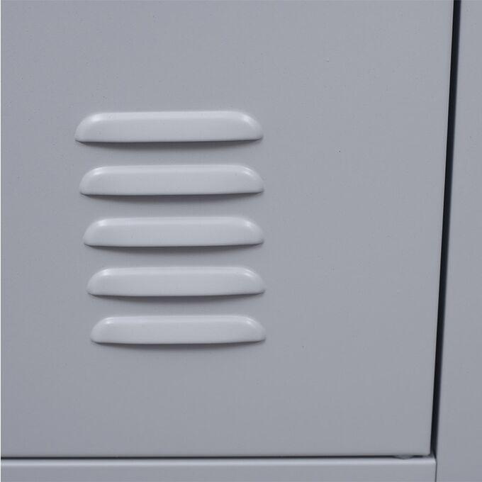 VESTA Μεταλλική Ντουλάπα - Φοριαμός (Locker) 38x45x191cm 3 Θέσεων 22kg Γκρι Ανοικτό 4 Ρυθμιζόμενα Πόδια