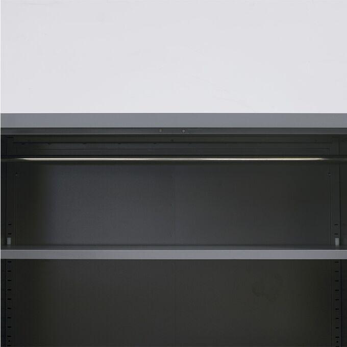 VESTA Μεταλλική Ντουλάπα 70x40x171cm Πάχους 0.6mm/0.8mm (πάτωμα) Γαλβανιζέ με 4 Ράφια ΧΩΡΙΣ ΠΟΔΙΑ - 5 Αποθηκευτικοί Χώροι Ανθρακί Ματ