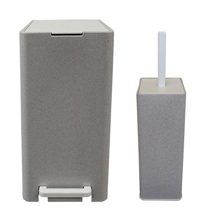 Κάδος Μπάνιου με Πεντάλ 17lt 18.5x26x37cm με Εσωτερικό Κάδο 10lt 1.04kg Πλαστικό SOFT CLOSE Πέτρα Ελλάδας