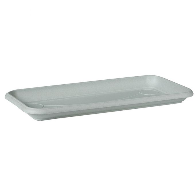 Πιάτο Ζαρντινιέρας 55x17x3cm Πλαστικό COLOR Λευκό Ελλάδας