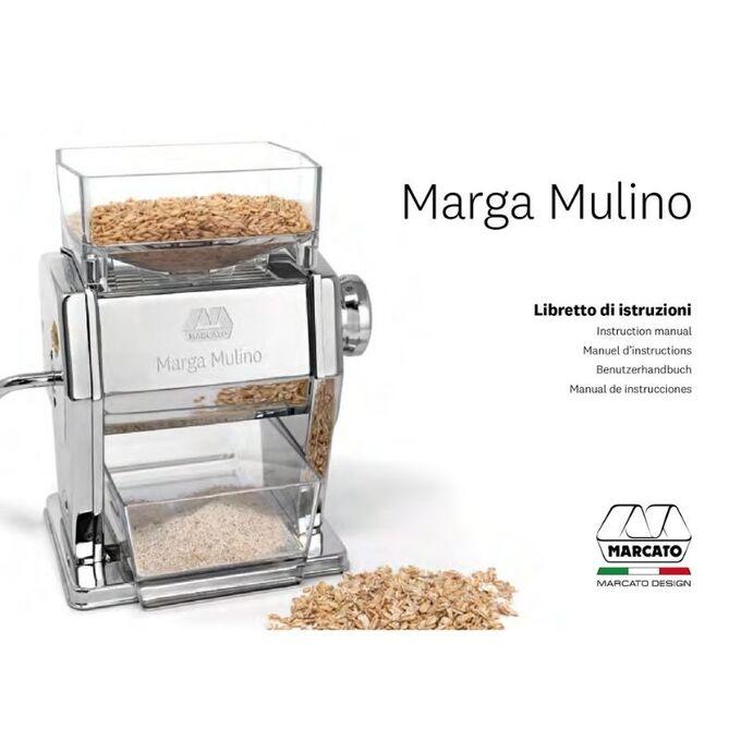 Marcato MARGA MULINO Μηχανή Αλέσεως Δημητριακών και Παραγωγής Αλευριού 16x14x22cm Επιχρωμιωμένο Ατσάλι Βάρος 3.62kg Ιταλίας