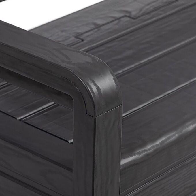 TOOMAX Παγκάκι 2 Ατόμων/Μπαούλο Αποθήκευσης 270Lt 132.5x58x89cm Πλαστικό 16kg UV RESISTANT Ανθρακί PANCHINA FOREVERSPRING