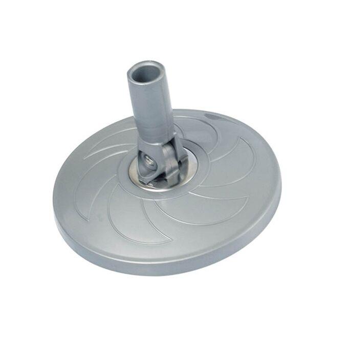 SPIN MOP Welle Κουβάς Σφουγγαρίσματος 49x30x31cm 19lt 2.38kg με Περιστρεφόμενο Σύστημα Σφουγγαρίσματος 360° + Κοντάρι Γκρι Κρεμ