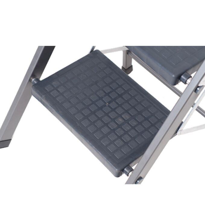 ΒΑΣΟΜΗΧΑΝΙΚΗ Σκαλοσκαμπό Αλουμινίου 43.5x56x110cm Σκάλα με 2 Πλαστικά Σκαλιά Αντοχή Βάρους 150kg Πιστοποίηση ΕΝ 131-1 Βάρος 3.27kg