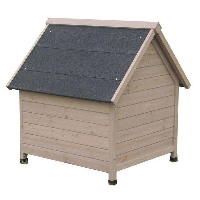 VESTA Ξύλινο Σπιτάκι Σκύλου Small 72x76x76cm 17kg Φυσικό Ξύλο Ελάτης-Ανθρακί