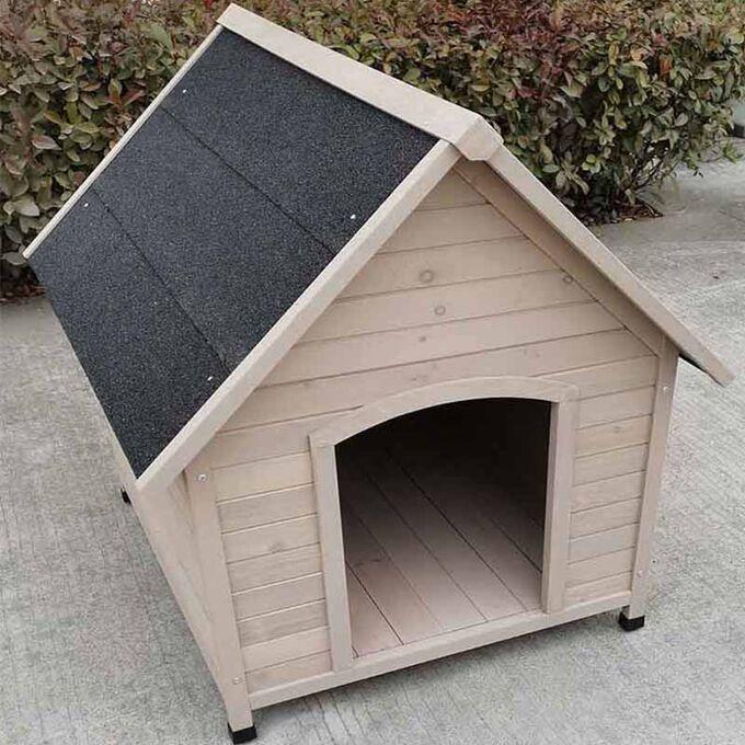 VESTA Ξύλινο Σπιτάκι Σκύλου XLARGE 96x112x105cm 29.9kg  Φυσικό Ξύλο Ελάτης-Ανθρακί