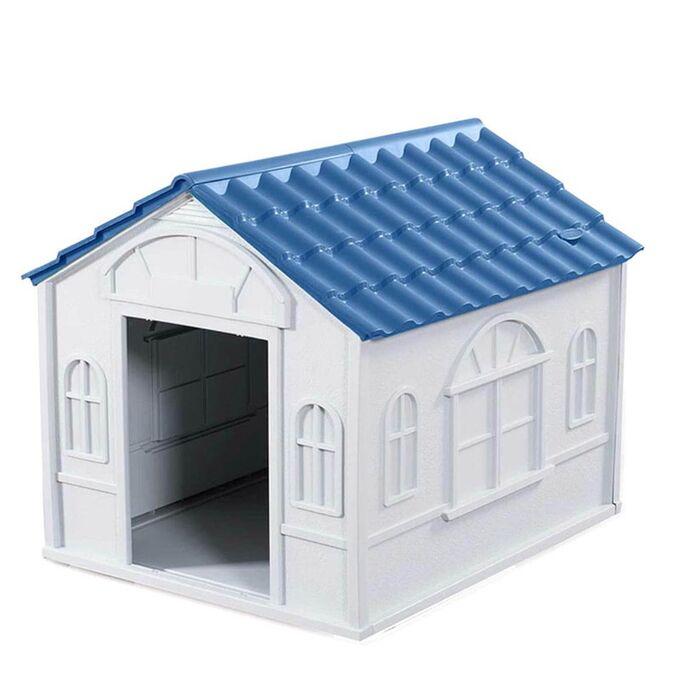 Σπίτι Σκύλου LARGE 84.2x98.2x82cm 10.5kg Λευκό Πάγου-Μπλε VESTA